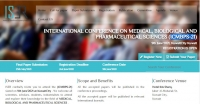 INTERNATIONAL CONFERENCE ON MEDICAL, BIOLOGICAL AND PHARMACEUTICAL SCIENCES